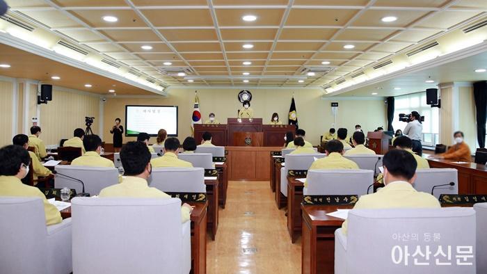 아산시의회가 지난 5월 18일 제221회 임시회를 개회하고 5월 22일까지 5일간의 일정으로 의정활동에 돌입했다.JPG